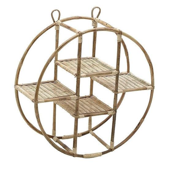 στρογγυλή ραφιέρα bamboo