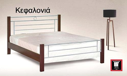 Κεφαλονιά /μονό-ημίδιπλο κρεβάτι ξύλο-μέταλλο