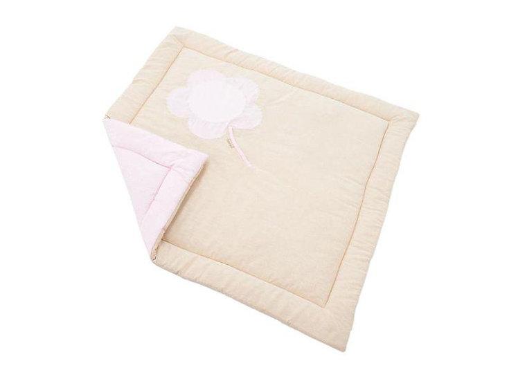 χαλάκι πάρκου μωρού βαμβακερό ροζ,roz halaki gia parko morou