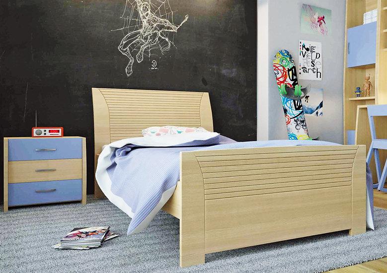 μονό κρεβάτι παιδικό-εφηβικό από ξύλο