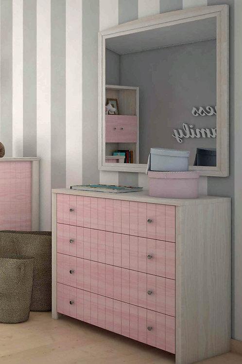 ξύλινη συρταριέρα από ξύλο με 4 συρτάρια