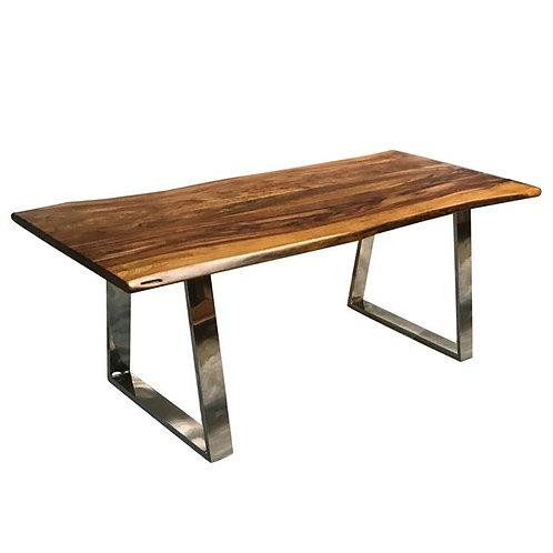 Patmos 200-antique / μασίφ τραπέζι με μεταλλικά πόδια