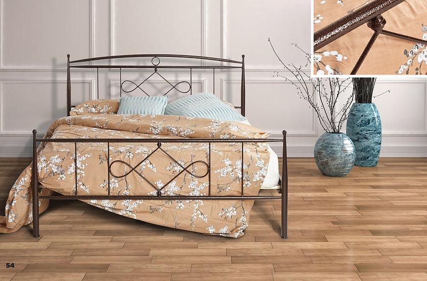 Ημίδιπλο μεταλλικό κρεβάτι  110X200 στιβαρή κατασκευή σε πολλά χρώματα