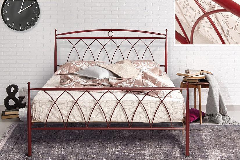 Ημίδιπλο μεταλλικό κρεβάτι 140x190 στιβαρή κατασκευή σε πολλά χρώματα