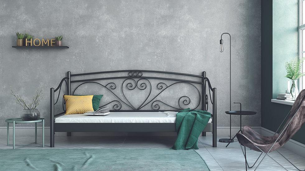 Μεταλλικός καναπές/κρεβάτι