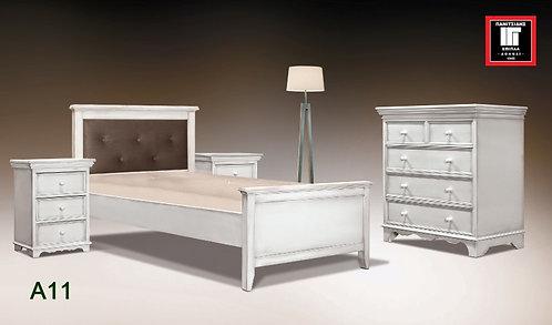 διπλό κρεβάτι 160, ξύλο σε κλασσική γραμμή σε διάφορα χρώματα πατίνας για εξοπλισμό ξενοδοχείων,οικιών και airbnb