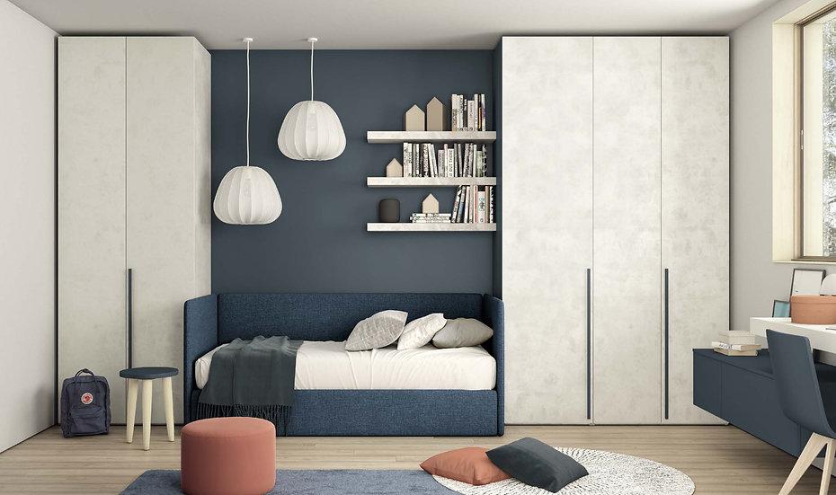 Ιταλικός καναπές-κρεβάτι με συρώμενο