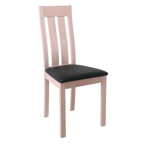 ξύλινη καρέκλα τραπεζαρίας σε white wash