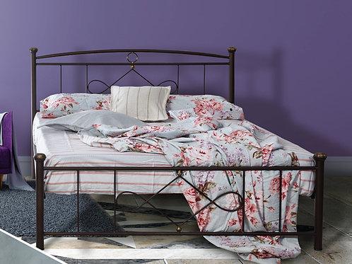 Διπλό μεταλλικό κρεβάτι 140x190 στιβαρή κατασκευή σε πολλά χρώματα