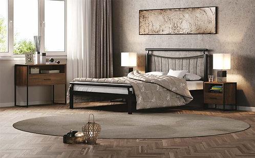 Μονό κρεβάτι μεταλλικό