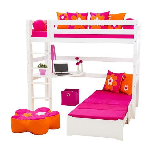 Premium Mega Bed / Γωνιακή κουκέτα + επεκτ/νο κρεβάτι / τάβλες