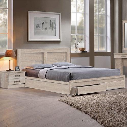 διπλό ξύλινο οικονομικό κρεβάτι διπλό για στρώμα 160Χ200
