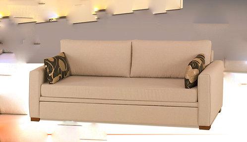 καναπές κρεβάτι με συρόμενο μηχανισμό και 2 στρώματα, σε πολλά χρώματα υφάσματος