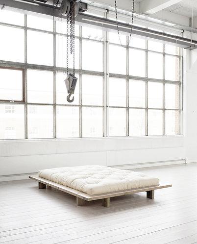 διπλό κρεβάτι από μασίφ ξύλο, πλατφόρμα Ιαπωνικού στυλ 140Χ200