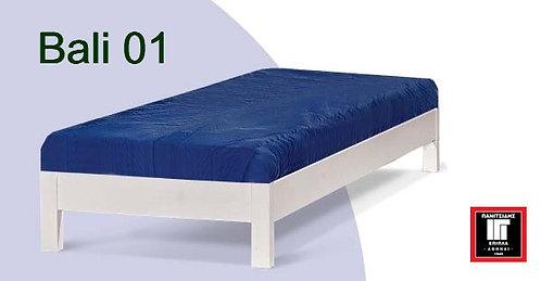 μονό ξύλινο κρεβάτι υπόστρωμα με τάβλες σε πολλά χρώματα