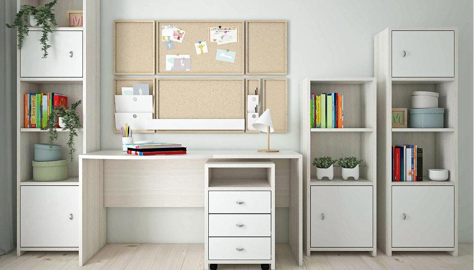 Ξύλινο παιδικό-εφηβικό γραφείο 120εκ., σε πολλά χρώματα με βιβλιοθήκες