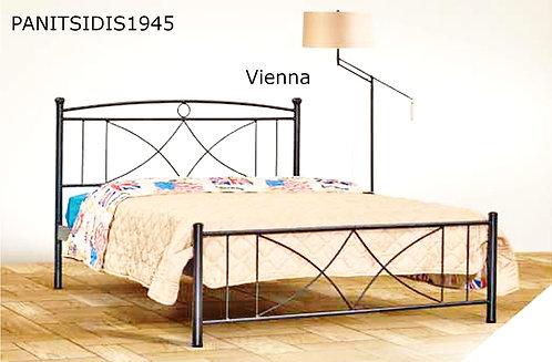 μονό σιδερένιο κρεβάτι 90 Χ 190/200