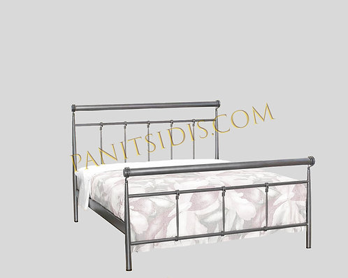 metalliko krevati diplo,double metal bed for airbnb and hotels