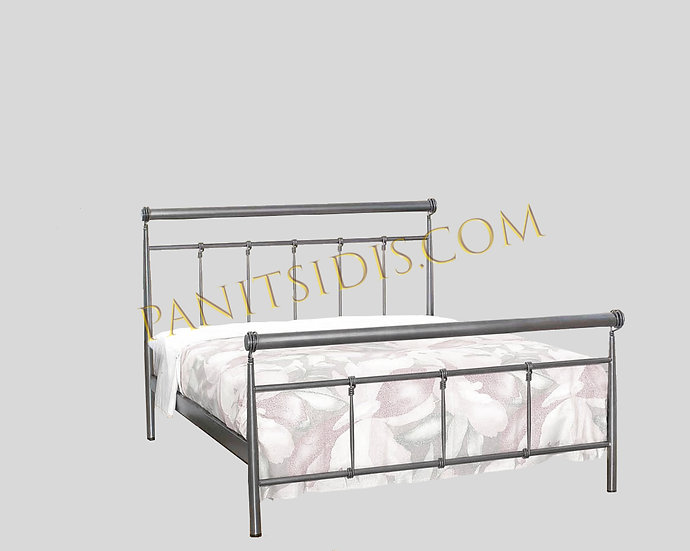 metalliko krevati diplo,double metal bed for airbnb and hotels
