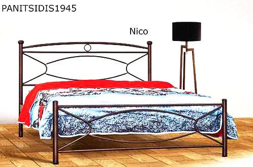 ημίδιπλο μεταλλικό κρεβάτι για στρώμα 110 Χ 190/200 εκ.