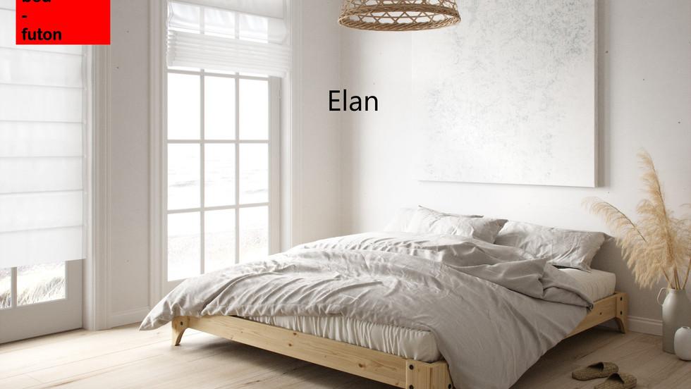 Διπλό Ιαπωνικό κρεβάτι πλατφόρμα  μασιφ ξύλο
