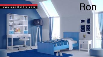 Μονό ή Ημίδιπλο ξύλινο παιδικό-εφηβικό κρεβάτι σε λάκα