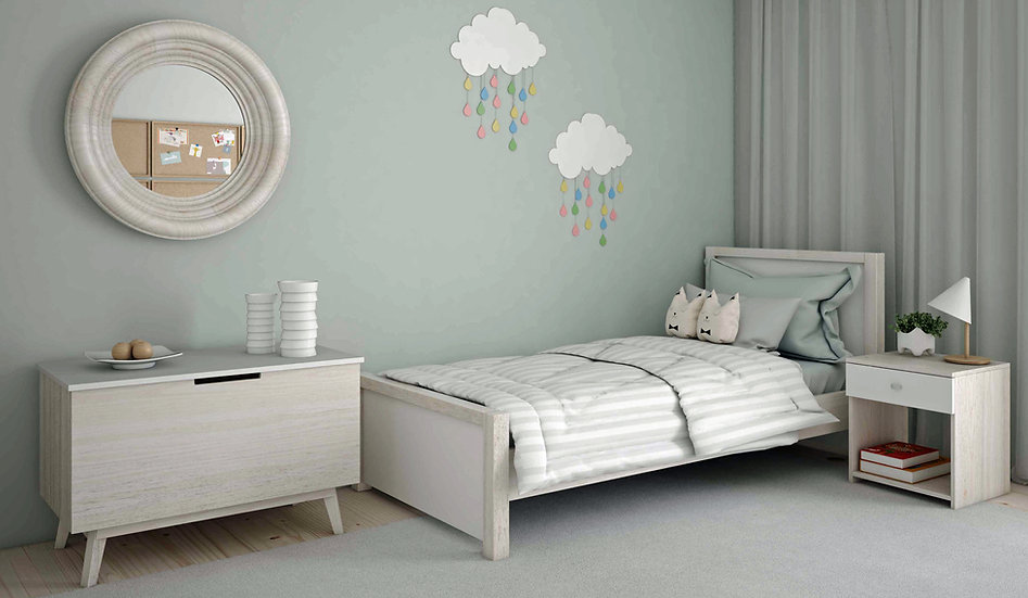 ημίδιπλο κρεβάτι παιδικό-εφηβικό-νεανικό σε πολλά χρώματα