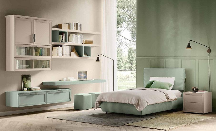 Ιταλικό ντυμένο κρεβάτι 120x200