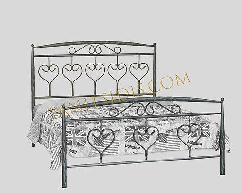 διπλό σιδερένιοκρεβάτι για τσρώμα 150Χ200 σε πολλά χρώματα μετάλλου για airbnb σπίτια και ξενοδοχεία