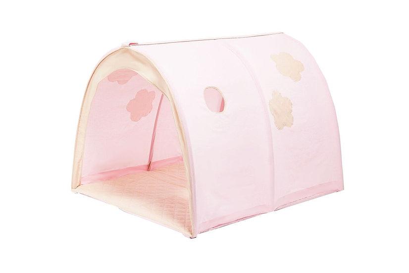 υφασμάτινα τούνελ κουκέτας σε απαλό ροζ χρώμα