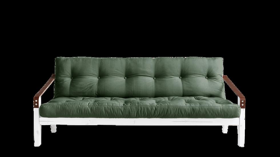 καναπές κρεβάτι τριθέσιος με φουτόν στρώμα βαμβάκι 130Χ190 εκ