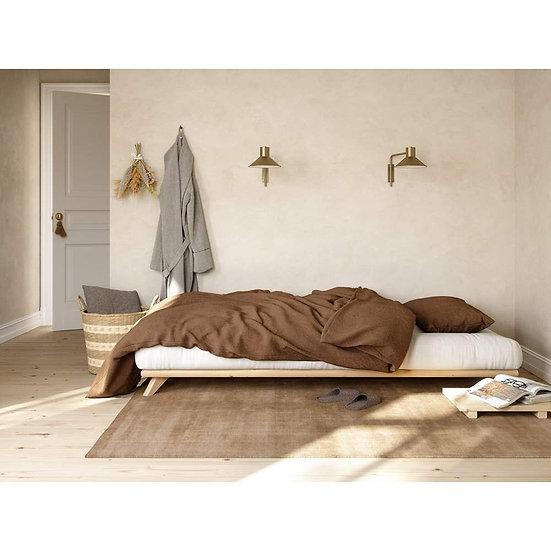 κρεβάτι ιαπωνικού στυλ για στρώμα 90Χ200 από μασίφ ξύλο