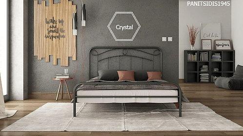 μονό μεταλλικό κρεβάτι σε κλασσικό σχέδιο για στρώμα 90Χ190/200 εκ., και σε ποικιλία χρωμάτων.