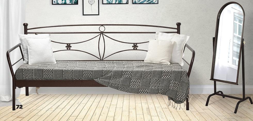 Καναπές Κρεβάτι μεταλλικός στιβαρή κατασκευή σε πολλά χρώματα