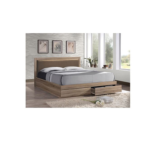 Angela 160 / Διπλό Ξύλινο Κρεβάτι