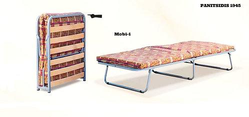 πτυσσόμενο ντιβάνι εκστρατείας με στρώμα 80 Χ 180 Χ 6 πάχος και ανατομικές τάβλες από ξύλο, χωνευτές για να μην τρίζουν