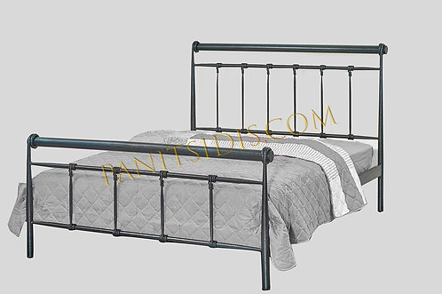 double metal bed for hotels, airbnb etc., for mattress size 140X200,διπλό σιδερένιο κρεβάτι 140Χ200