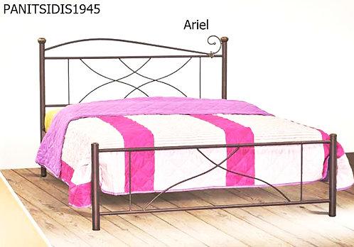 ημίδιπλο μεταλλικό κρεβάτι 110 Χ 190/200 εκ.