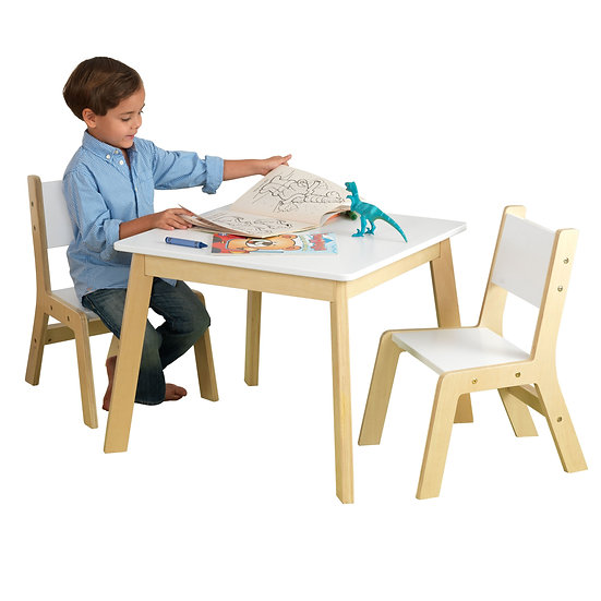 σετ παιδικής τραπεζαρίας από ξύλο με τραπέζι και 2 καρεκλάκια-kidkraft