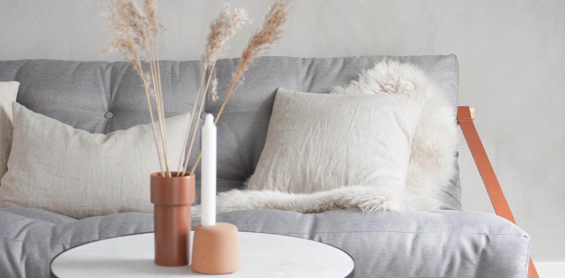 futon sofa bed, διπλός καναπές κρεβάτι με στρώμα φουτόν
