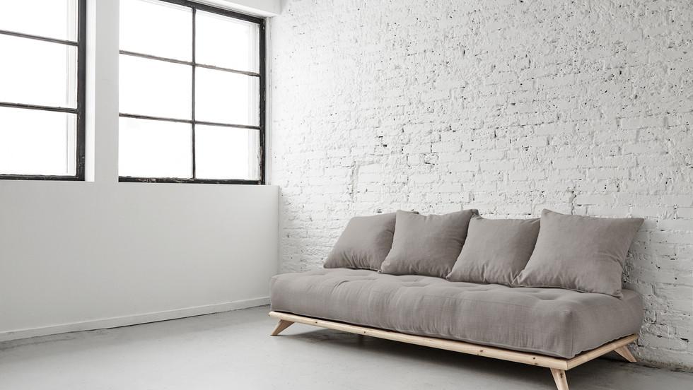 μονός καναπές κρεβάτι με στρώμα 90Χ200 futon