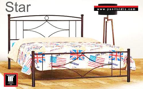 μονό σιδερένιο κρεβάτι για στρώμα 90 Χ 190/200  για ξενοδοχεία,airbnb, οικίες