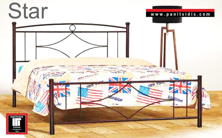 ημίδιπλο σιδερένιο κρεβάτι για στρώμα 110 Χ 190/200  για ξενοδοχεία,airbnb, οικίες