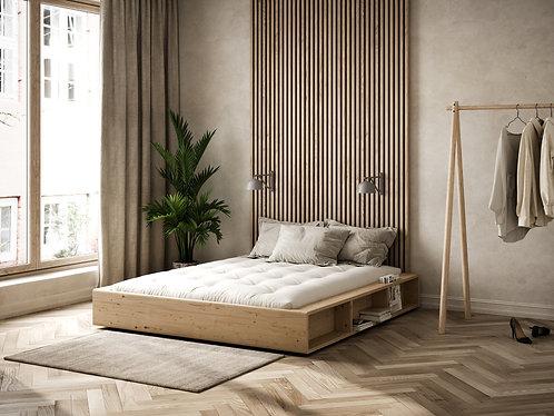 διπλό κρεβάτι πλατφόρμα ξύλινο Ιαπωνικό με αποθηκευτικούς χώρους