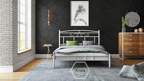 ημίδιπλο μεταλλικό κρεβάτι 110 Χ 190/200 σε πολλά χρώματα επιλογής σας