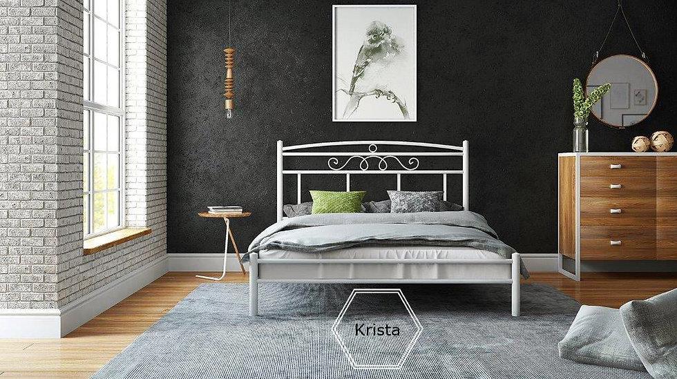 μονό μεταλλικό κρεβάτι 90Χ190 σε πολλά χρώματα