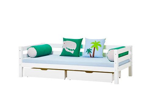 καναπές-κρεβάτι ξύλινος παιδικός νεανικός με 2 συρτάρια για αποθηκευτικό χώρο