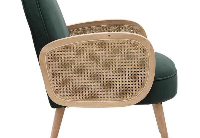 Πολυθρόνα βελούδινη / ξύλινη