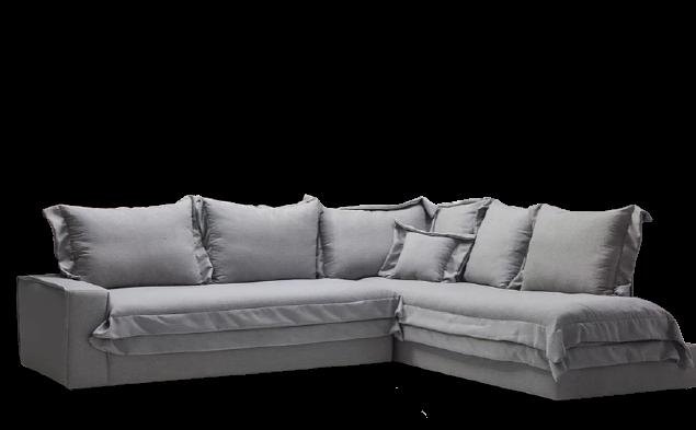 Καναπές γωνία σε πολλά υφάσματα