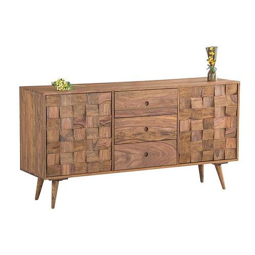 ξύλινο μασίφ μπουφές με 2 πόρτες και 3 συρτάρια